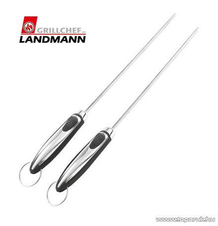 Landmann 13427 INOX Időtálló rozsdamentes acél kivitelű grill nyárs, 42 cm, 1 pár