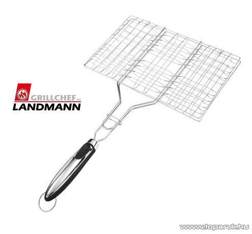 Landmann 13431 INOX Időtálló rozsdamentes acél kivitelű grill húsforgató, hamburgersütő