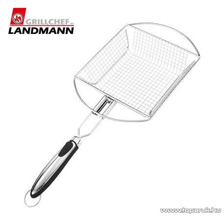 Landmann 13432 INOX Időtálló rozsdamentes acél kivitelű grill zöldségpirító zöldségkosár
