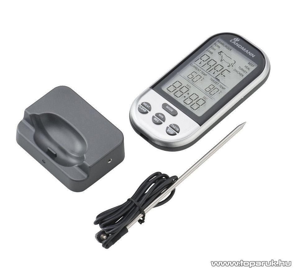 Landmann 13625 Vezeték nélküli grillhőmérő, húshőmérő