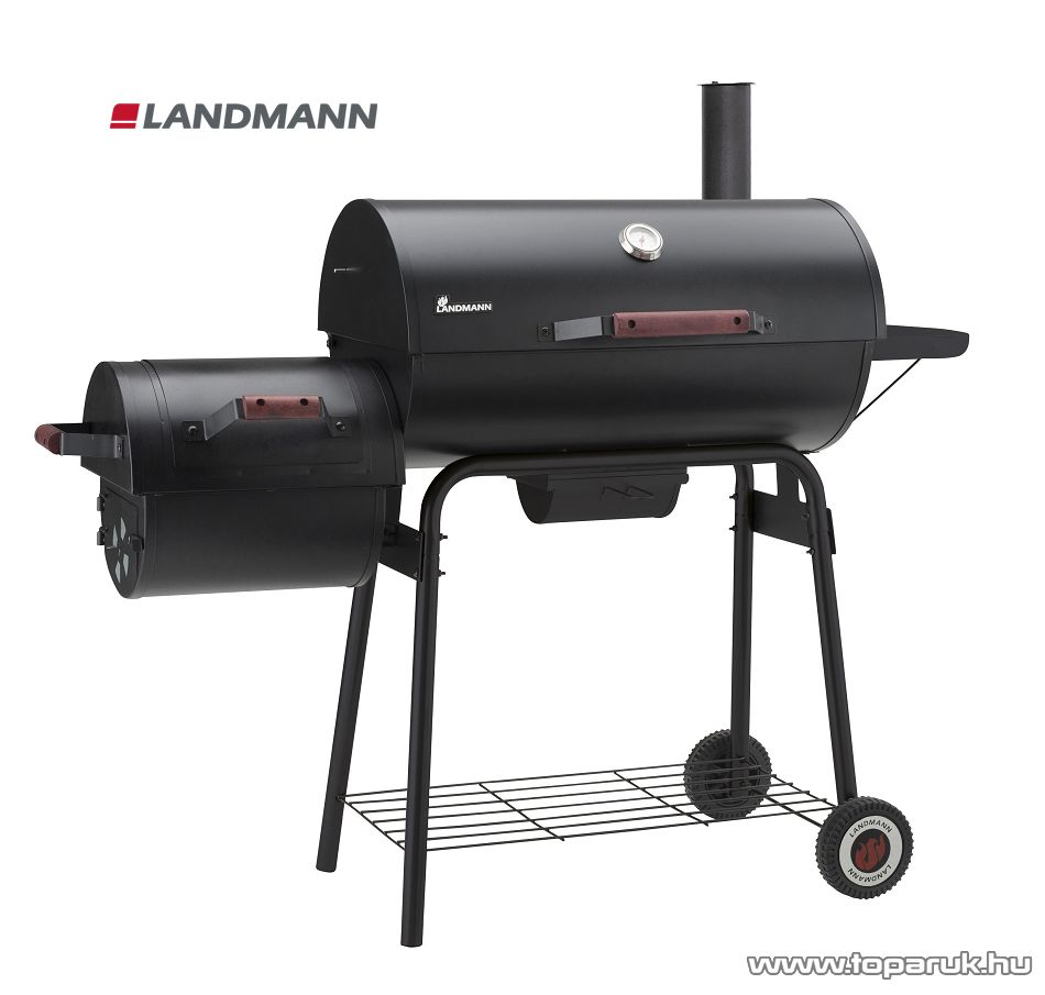 Landmann 31426 Black Taurus 660++ faszenes party grillkocsi (10 személyes) - készlethiány