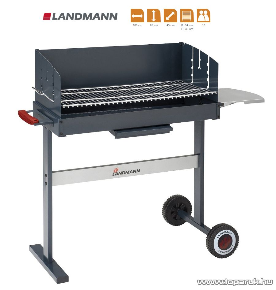 Landmann 31482 Compact 700 faszenes party grillkocsi (10 személyes) - készlethiány