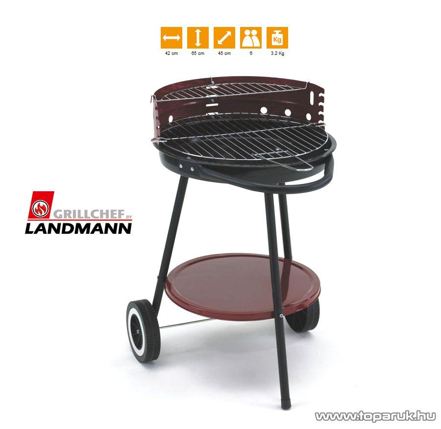 Landmann 0660 Faszenes 3 lábú körgrill, fix polccal (6 személyes) - készlethiány