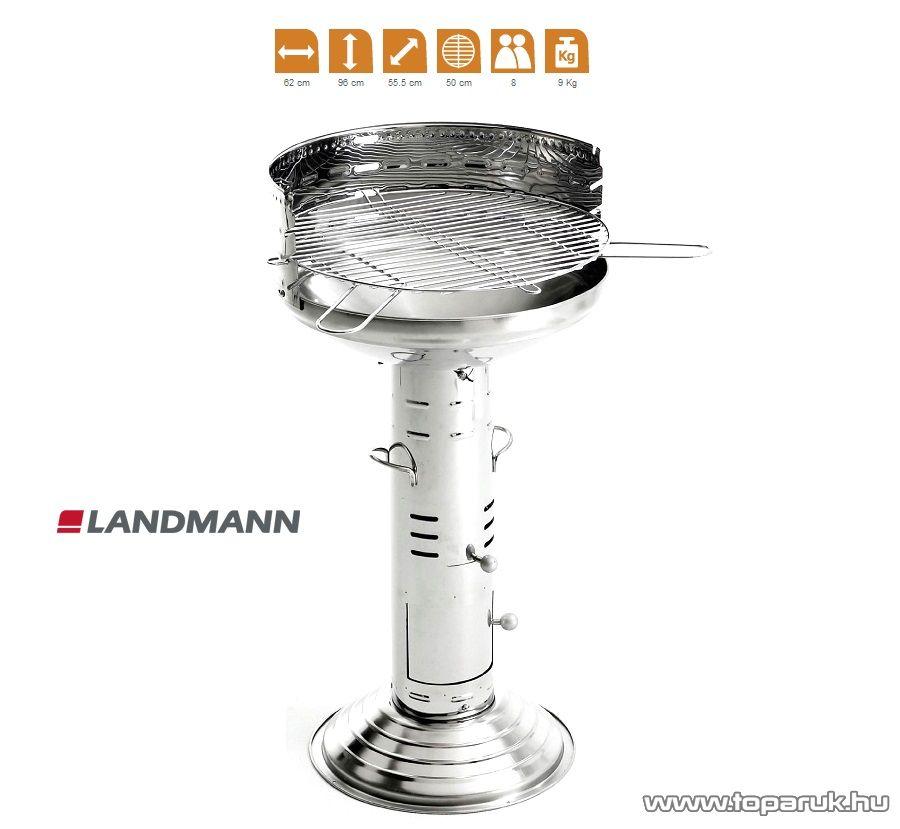 Landmann 31261 Faszenes INOX oszlopgrill (8 személyes) - készlethiány