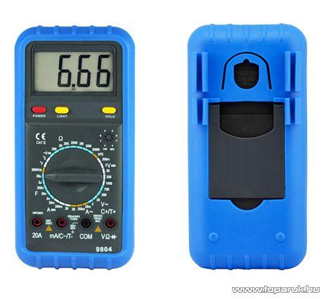 HOLDPEAK 9804 Digitális multiméter, VDC, VAC, ADC, AAC, ellenállás, kapacitás, frekvencia, hőmérséklet mérőműszer - megszűnt termék: 2016. január