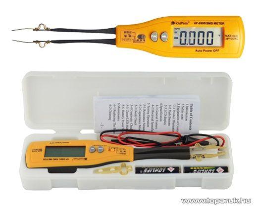 HOLDPEAK 990A SMD, multiméter, VDC, ellenállás, kapacitás, zener és LED dióda mérőműszer