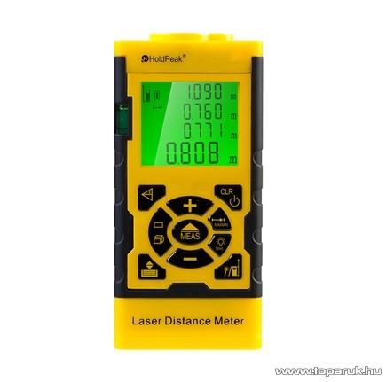 HOLDPEAK 3060 Digitális, lézeres távolságmérő mérőműszer, memória, terület/térfogat és háromszög, 0.05 - 60m