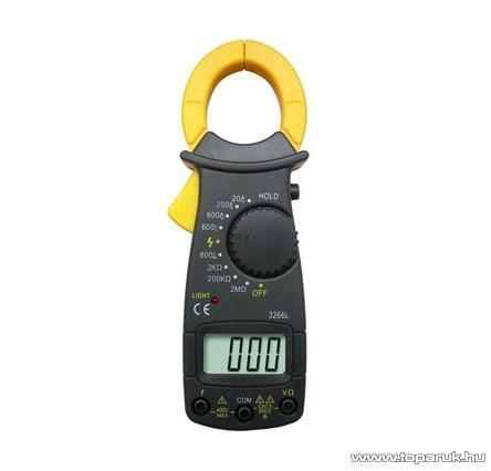 HOLDPEAK 3266L Digitális lakatfogó, multiméter, nagyáramú, VDC, VAC, AAC, ellenállás mérőműszer