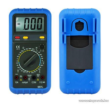 HOLDPEAK 9801L Digitális multiméter, VDC, VAC, ADC, AAC, ellenállás, dióda, hFE, szakadás mérőműszer - megszűnt termék: 2016. január