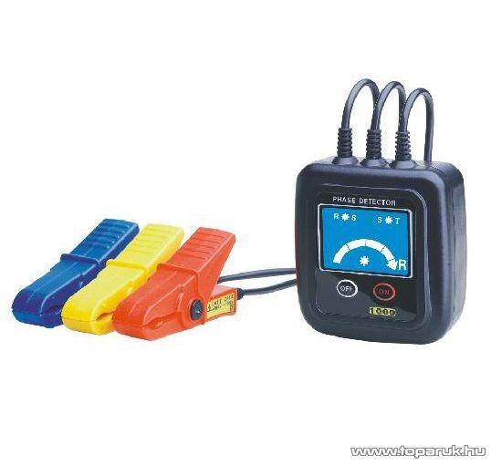 HOLDPEAK 1000 Háromfázisú fázissorrend és forgásirány tesztelő mérőműszer + mérővezeték, 60-600VAC - készlethiány