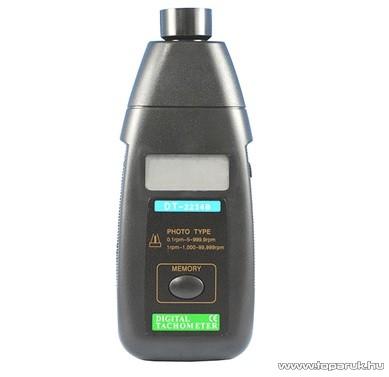 HOLDPEAK 2234B Digitális fotoelektronikus optikai fordulatszám mérő mérőműszer + tartozéktartó doboz (2.5-99999RPM)