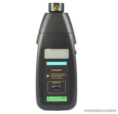HOLDPEAK 2234C Digitális, lézer, optikai fordulatszám mérő mérőműszer + tartozéktartó doboz, (2.5-99999RPM)