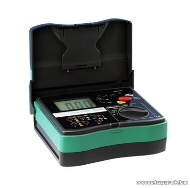 HOLDPEAK 5102 Digitális szigetelési ellenállás mérő mérőműszer + hord táska, 500-2500VAC, 0.1Mohm-20Gohm, fázissorend