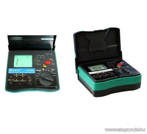 HOLDPEAK 5500 Digitális földelési és szigetelési ellenállás mérő mérőműszer, 250-1000VAC, 0.1Mohm-20Gohm, fázissorend