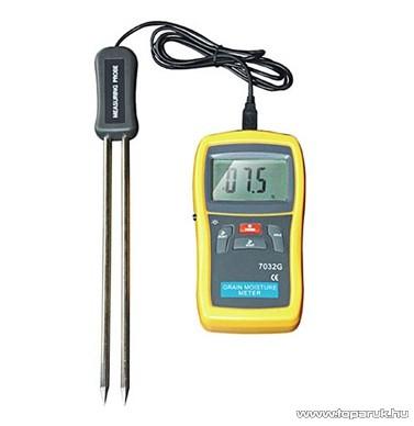 HOLDPEAK 7032G Multifunkciós gabona nedvességtartalom és hőmérsékletmérő mérőműszer, LCD kijelzővel