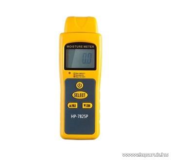 HOLDPEAK 7825P Univerzális nedvességtartalom mérő mérőműszer, 50mm-es mérőtűvel, LCD kijelzővel