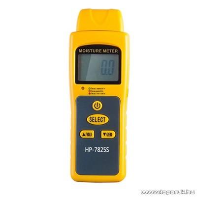 HOLDPEAK 7825S Univerzális nedvességtartalom mérő mérőműszer, indukciós, 50mm-es elemző érzékelővel, LCD kijelzővel