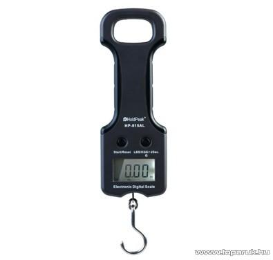 HOLDPEAK 815AL Digitális kézi mérleg + mérőszalag, 0-25kg-ig, kijelzés KG/LB mértékegységekben