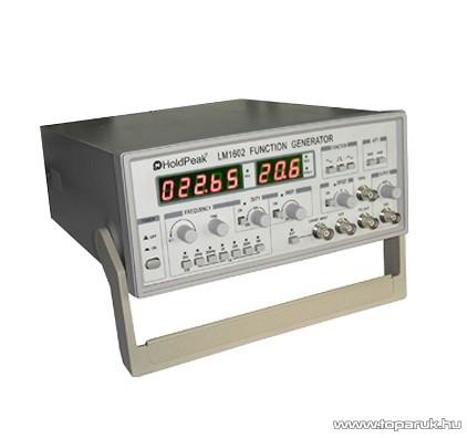 HOLDPEAK LM1602 labor tápegység, függvényjel generátor, négyszög, háromszög és szinusz jel, 0.1Hz-2MHz, 0-5V, LED kijelzés