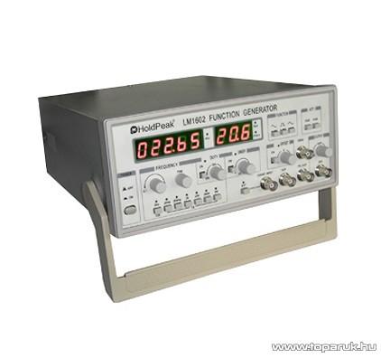 HOLDPEAK LM1620 labor tápegység, függvényjel generátor, négyszög, háromszög és szinusz jel, 0.1Hz-20MHz, 0-5V, LED kijelzés