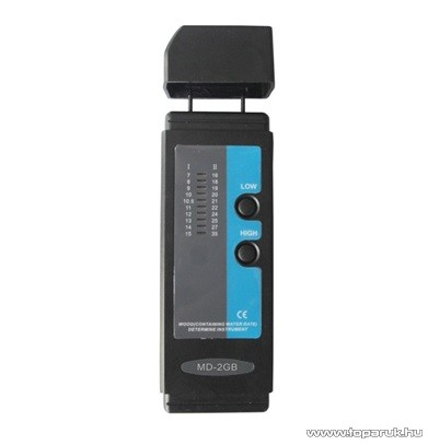 HOLDPEAK MD-2GB Fa nedvességtartalom mérő mérőműszer, LED-es kijelzéssel és kétszintű mérés funkcióval