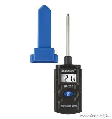 HOLDPEAK 2GE Beszúrótűs hőmérsékletmérő mérőműszer LCD kijelzővel