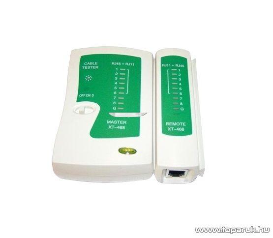 UTM0510 UTP kábel tesztelő műszer, UTP/FTP kábel tesztelés, érbekötés tesztelés, koax kábel tesztelés, LED-es