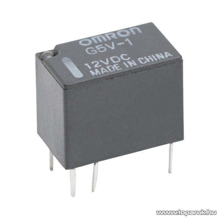 OMRON Relé, 12V, DC, 1A 960R, 1 Morze, G5V-1, 2 db / csomag (08200)