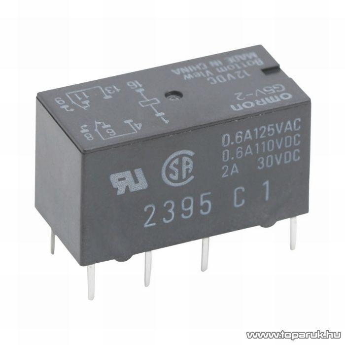 OMRON Relé, 12V, DC, 2A, 288R, 2 Morze, G5V-2, 2 db / csomag (08201)