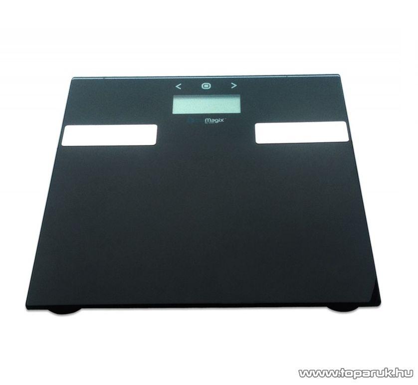 BluMagix BM-PSC15BF Multifunkcionális személy szoba mérleg, fekete (max. 180 kg súlyig)