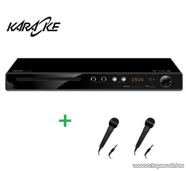 Orion DVD 5100 DivX/Avi/MPEG/MP3 régiófüggetlen karaoke szett 2 mikrofonnal - készlethiány