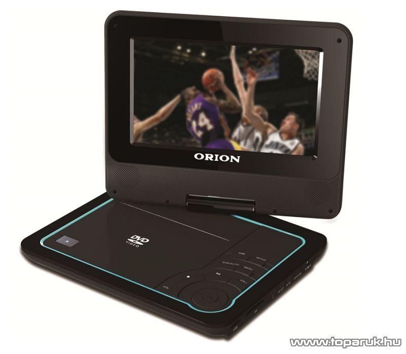 """Orion OPDTV-750D 7"""" (18 cm) hordozható DVD lejátszó, DVB-t MPEG4 tunerrel"""