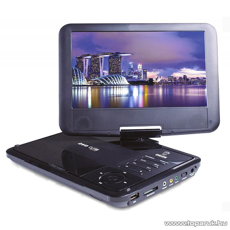 """Orion OPDTV-950D 9"""" (23 cm) hordozható DVD lejátszó, DVB-t MPEG4 tunerrel"""