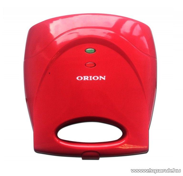 Orion OSWM-03 3 az 1-ben Szendvicssütő, gofrisütő és grillsütő, piros