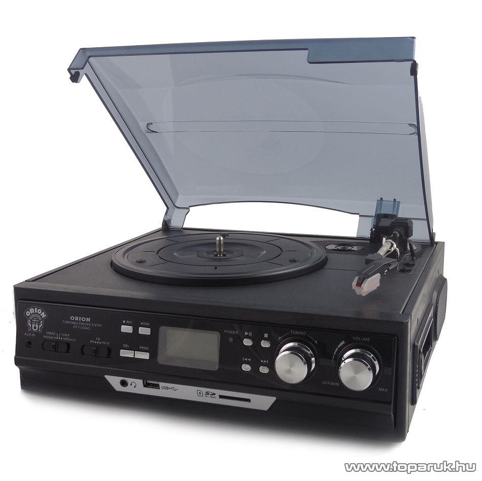 Orion OTT-1520AG Music Box 4 az 1-ben LCD kijelzős lemezjátszó MP3 és USB konverterrel, FM rádióval