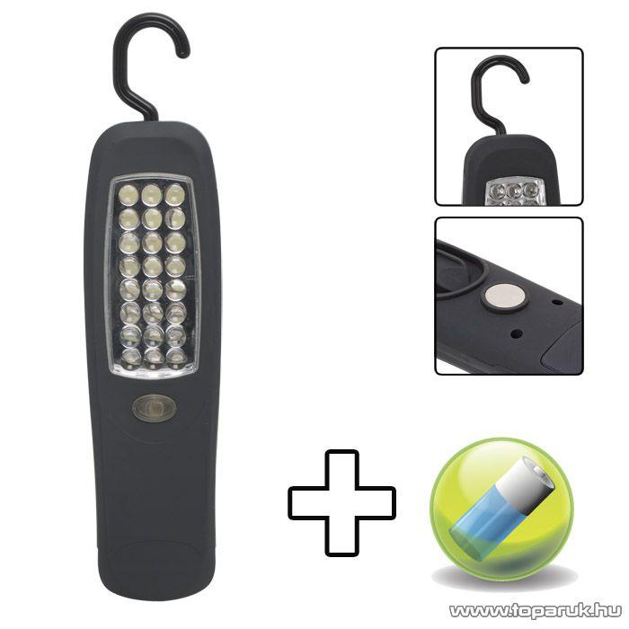 Phenom Steklámpa 24 LED-del, foszforeszkáló betéttel és ajándék elemekkel (18620PH)