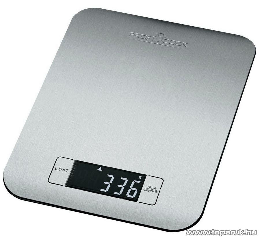 ProfiCook PC-KW1061 Digitális inox konyhai mérleg