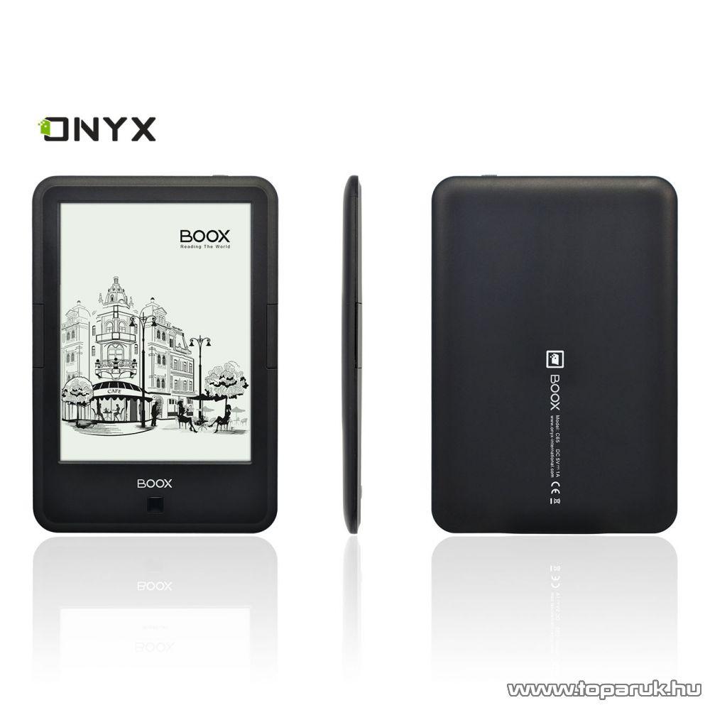"""Onyx Boox C67ML Carta eBook olvasó 6""""-os e-Ink érintőkijelző, háttérvilágítással, 8 GB memória, fekete"""