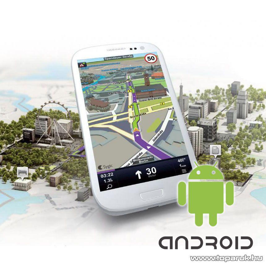 Sygic GPS Navigation 3D ANDROID teljes Európa szoftverlicensz okostelefonok és személyes navigációs eszközökre - készlethiány