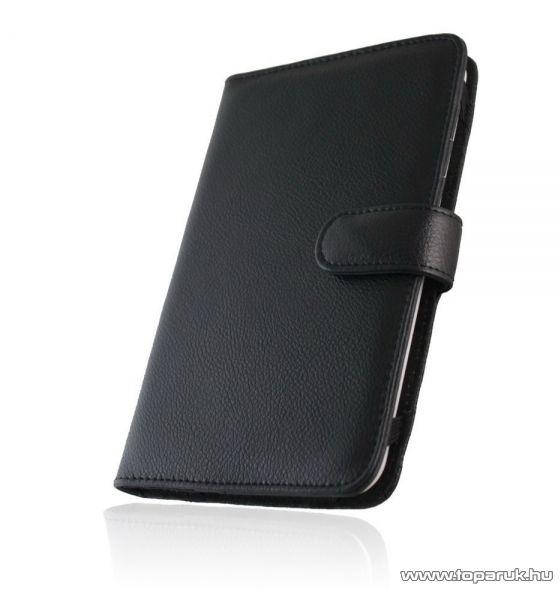 WayteQ xBook-60 / xBook-60 HD / School bőr hordtok WayteQ eBook olvasóhoz, fekete - megszűnt termék: 2015. július