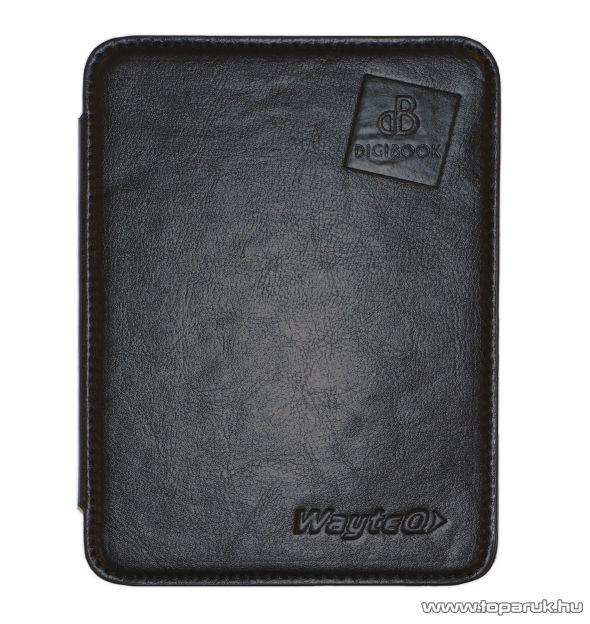 WayteQ xBook-60FL bőr hordtok WayteQ eBook olvasóhoz, fekete - készlethiány