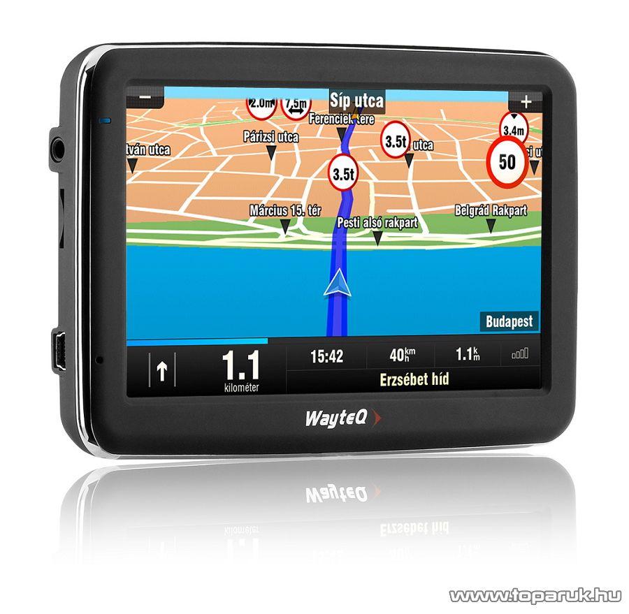 WayteQ x960BT HD Truck (kamionos, teherautós) GPS navigáció, 4GB + Sygic Truck Európa térkép (44 ország) - készlethiány
