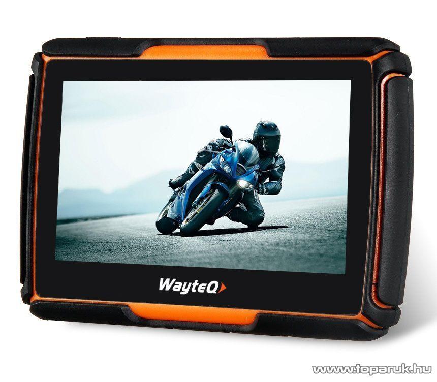 WayteQ xRIDER motoros GPS navigáció, 8 GB (navigációs szoftver nélkül)