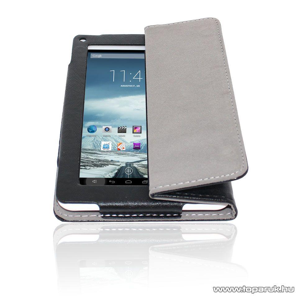 WayteQ xTAB-7Q bőrtok, asztali tartó funkcióval, fekete