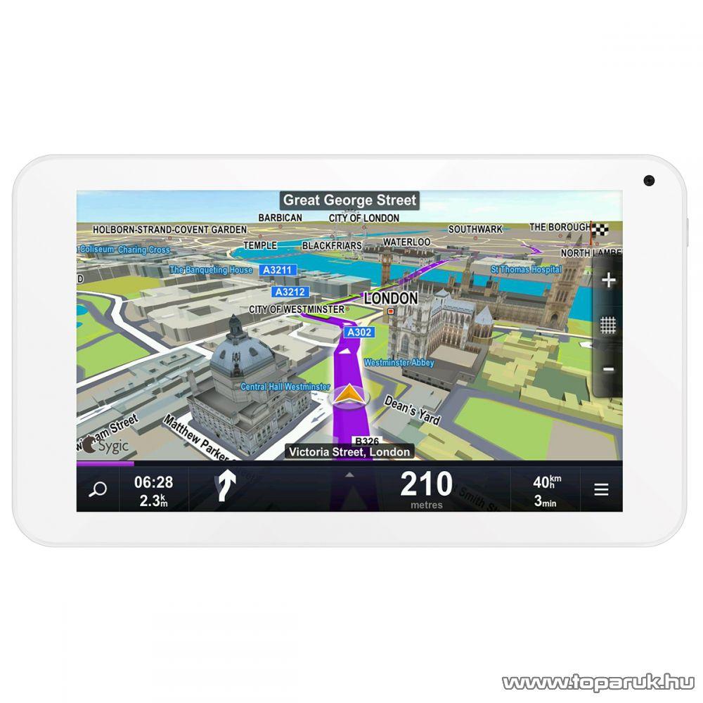 """WayteQ xTAB-7Q 7""""-os IPS tablet, 8GB, fehér (Android) + Sygic 3D Navigation for Android VOUCHER Teljes Európa TeleAtlas térképpel, 44 ország - megszűnt termék: 2016. január"""