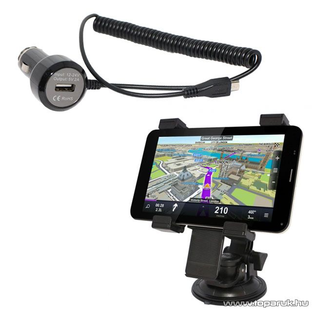 WayteQ xTAB-7X, xTAB-7Q, xTAB-8Q és xTAB-7x Quad tablet autós készlet (autós tartó és autós töltő) - készlethiány