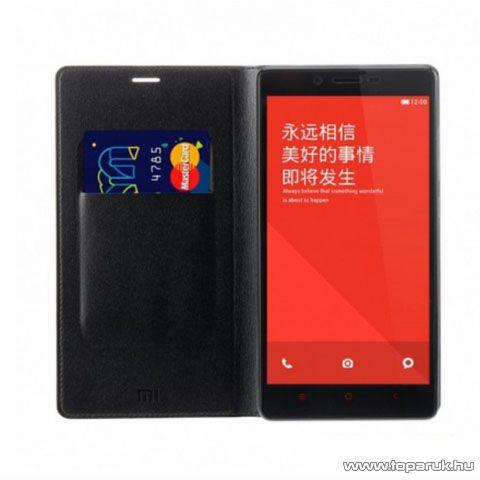 Xiaomi Hongmi Note / Redmi Note oksotelefon flip tok, gyári, fekete