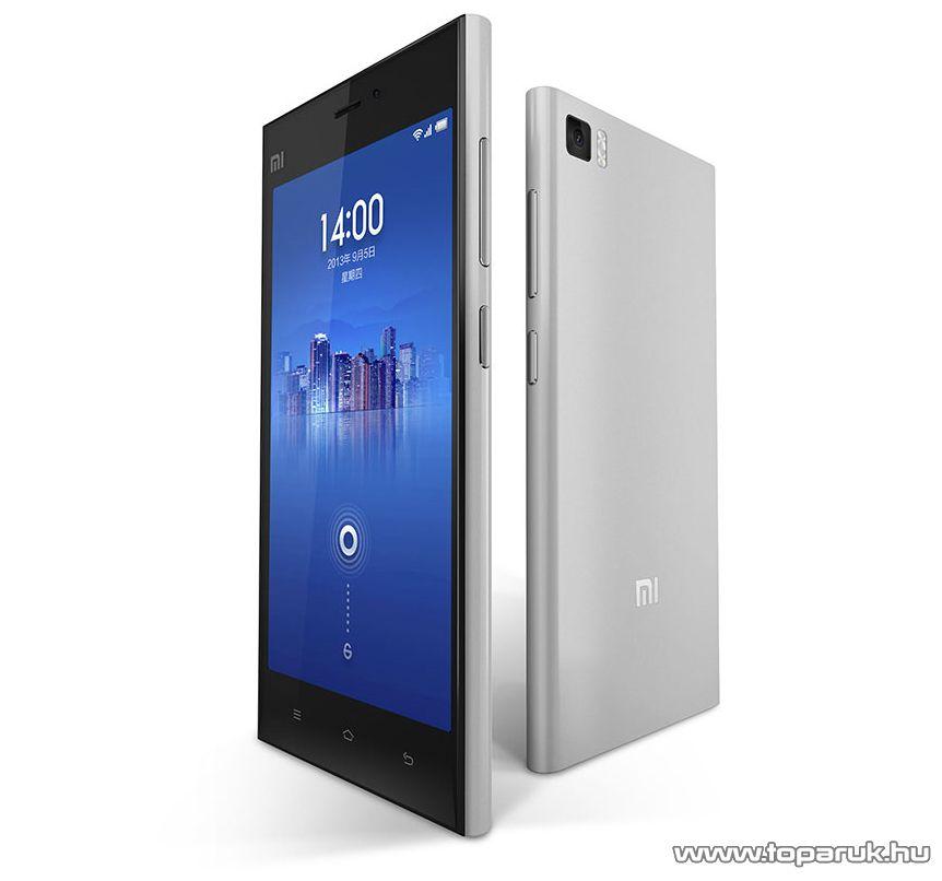 Xiaomi MI3 kártyafüggetlen okostelefon, ezüst, 16GB (Android) - megszűnt termék: 2015. október