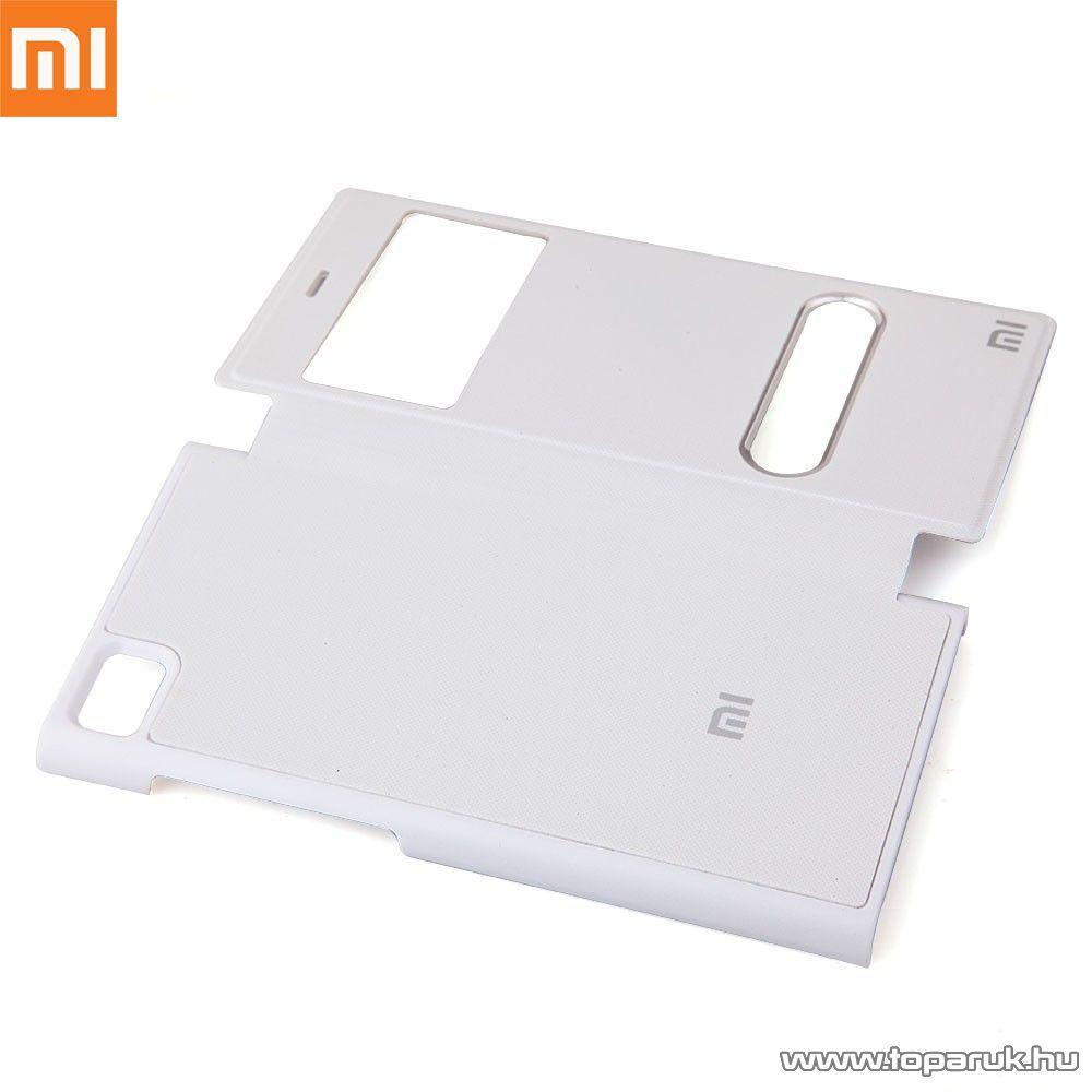 Xiaomi Mi3 ablakos mobiltelefon flip tok, utángyártott, fehér - megszűnt termék: 2015. október