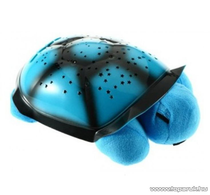 Csillagképek hangulatvilágítás, világító plüss teknős (kék)